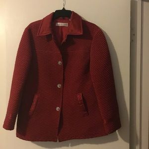 Red lined jacket